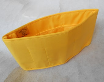 Purse To Go(R)Purse organizer insert transfer liner-yellow color in large size-Enclosed bottom-Bucket type-Change purses in seconds