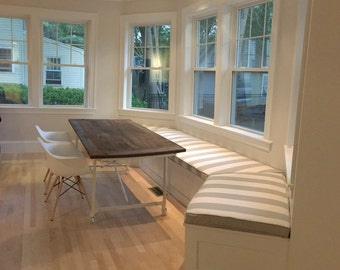 Banquette Cushions and Covers with Piping