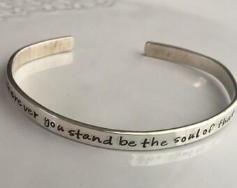 Inspirational Silver Bracelet