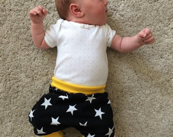 Baby kids toddler girl boy clothing harem pants baggy pants sweat pants YELLOW. Size preemie - 3 y
