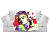 Home Decor Sexy Seductive Marilyn Monroe Pop Art Snuggly Fleece Blanket