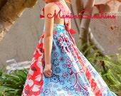 Peter Pan Collar Maxi Twirl Adjustable Dress