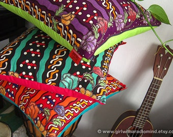 Boho Throw Pillow Covers Batik - Ethnic Decorative Cushion Covers