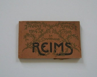 ON SALE Antique Postcards Reims France World War I Collectible Unused Detachable Before 1914 After 1918