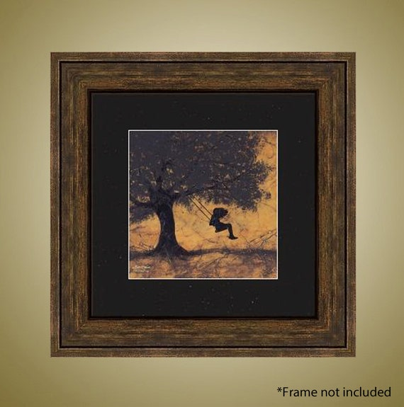 PRINT or GICLEE Reproduction -- Girl Swinging Limited Edition -- The Golden Days