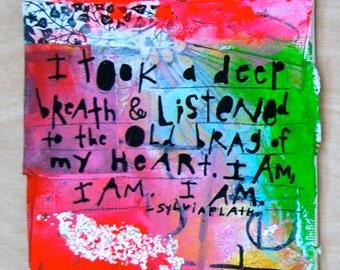 I am. Mini Original Painting