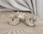 3 CARTAPESTA CRowns, French paper mache, Sea crowns, Jeanne d arc Style
