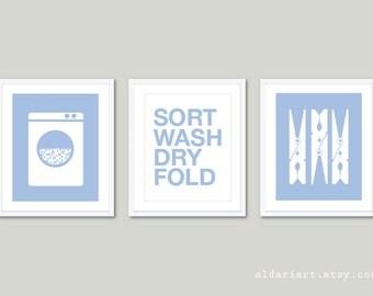 Laundry Wall Art laundry room prints set modern laundry wall art wall decor