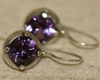 Gemstone Silver Earrings, Alexandrite Earring, Silver Earring ,Sterling Silver Earrings, Silver Earrings, Handmade Earrings, Silver Jewelry,
