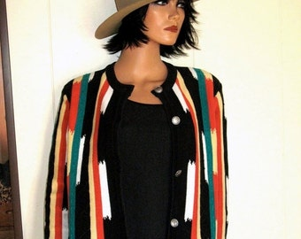 Gorgeous Heavy Cotton Native American Inspired First Issue Jacket Size Medium MINT