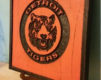 Detroit Tigers Retro carving