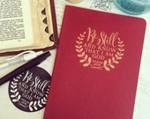 be still and know that i am God journal (large/plain/red/copper)