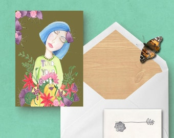 Greeting Card Tend Your Garden