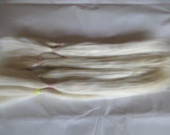 Blythe / BJD / MSD / Platinum Blonde / Combed Doll Hair / Re root / Combed Suri Alpaca / Wig    (71)