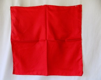 ASHEAR Silk Pocket Square Scarf in Red Hand Rolled in Portugal Made in Italy