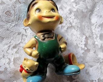 Wee Folks Josef Original Boy Kitten figurine