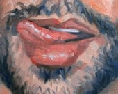 Licky Licky Round a Bouty, oil on canvas panel 9x12 inches Kenney Mencher