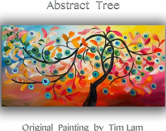 Art, Painting, oil, Texture art, oil paintings, Colorful Home Art, modern wall art by Tim Lam 48x24