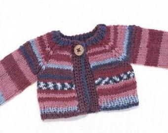 Waldorf Doll Clothes -Waldorf Doll  Sweater , fit 12 - 13 inch dolls