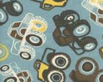 Monster Truck Bean Bag Cover, Blue, Yellow, Black, Trucks,