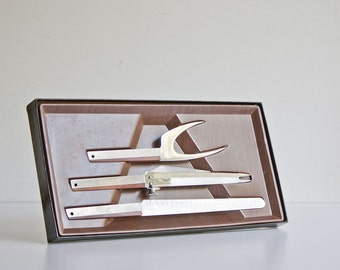 Vintage Mid Century Meat Carving Set - Danish Modern Style