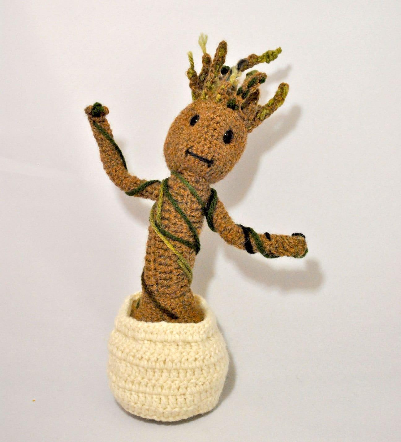 Amigurumi Patterns Groot : Crochet Pattern - Baby Groot - Amigurumi - Guadians of the ...
