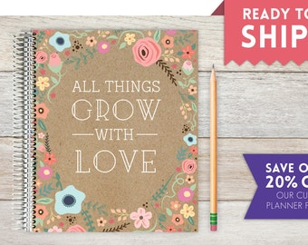 2018 Weekly Planner, Ready-to-Ship, Weekly Planner, All Things Grow With Love