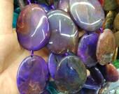 antique purple agate slab Beads 40x50mm- 7pcs/str