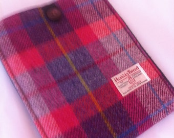 iPad case, tweed iPad sleeve, Harris tweed iPad cover, gift for her, Scottish gift, womens gift, girls gift