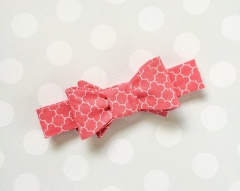 Boys Bow Tie - Boys Bow Ties -Spring Bow Tie - Coral Bow Tie - Childs Bow Tie - Sibling Outfit