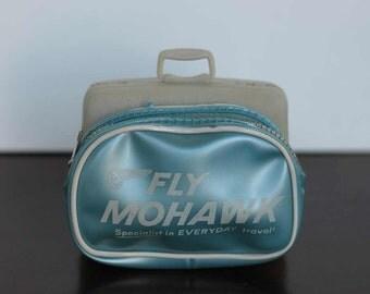 Doll SUITCASES - fly MOHAWK - plastic suitcase - soft zipper bag - BARBIE sized - miniature dollhouse - mcm