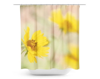 Bright yellow shower curtain 2