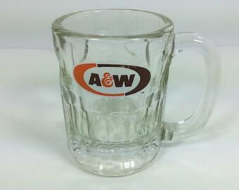Vintage A & W Root Beer Mug Small Souvenir