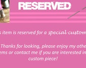 Reserved for Ashley Custom Bible Cover