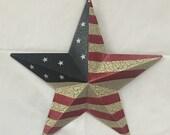 12 Inch Patriotic USA Metal Flag Star 6563-85