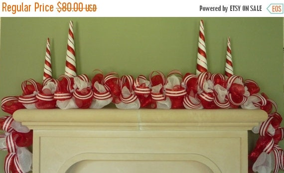 ON SALE Basic Garland, Christmas Garland, Poly Mesh Garland, Wreaths and Garland, Holiday Garland (502)