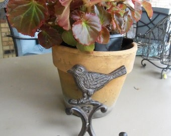 Cast Iron Bird Hook Brown