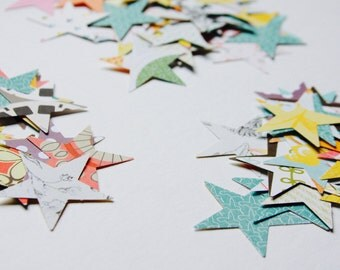 Stars Paper Confetti . Star Shape Paper Die Cuts . Cardstock Notebook Paper Scrapbooking Mixed Media Planner Supplies Listers Gotta List