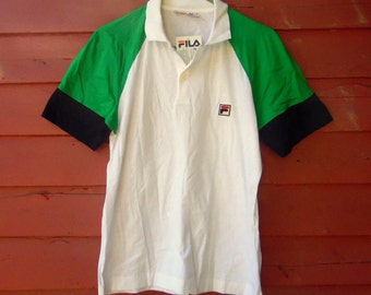 Vintage Deadstock Fila Athletic Polo Preppy Soccer Made in Italy Mens Vintage Shirt M