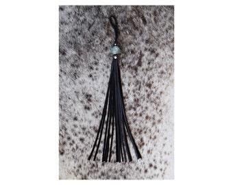 Long Rolled Tassel - Black