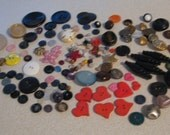 Over 100 buttons, bauble, beads - Collage, Steampunk, Craft, Sewing, Mixed Media Supplies