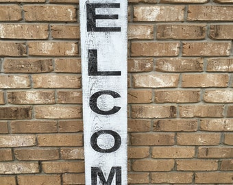 Welcome sign.Fixer Upper Inspired Signs,41x7.25 Rustic Wood Signs, Farmhouse Signs, Wall Décor