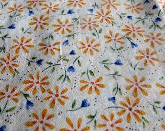 One Yard Henry Glass Fabric Possibilities Orange Small Flower Print