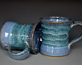 Blue Mug Ceramic Coffee Mug Stoneware Mug
