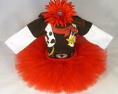SALE Baby Girl Cowgirl Outfit - Babys Cowgirl Tutu Set - Girls Sheriff Tutu Bodysuit and Headband Set - MT1306