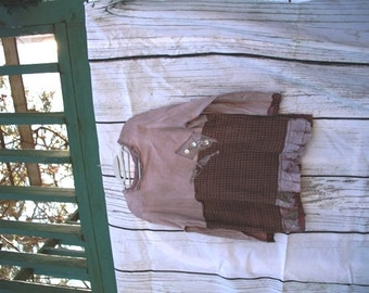 The Healing of the Spirit Top / Eco / Medium / Rustic / Upcycled / Boho / Country living / Cottage Chic