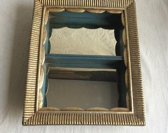Vintage Syroco mirror shelf  regency style shelf mirror