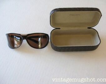 BOTTEGA VENETA Sunglasses Vintage 1990's Made in Italy With Original Leather hardshell Case Free Shipping in USA