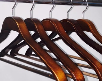 Dark Wood Suit Hanger 10 Pcs