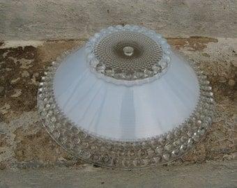 art deco pressed glass ceiling light shade period lighting cottage mid century